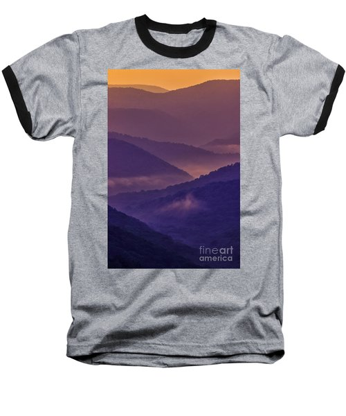 Allegheny Mountain Sunrise Two Baseball T-Shirt