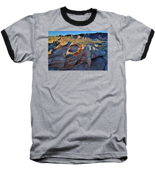 Baseball T-Shirt featuring the photograph Colorful Sandstone In Valley Of Fire by Ray Mathis