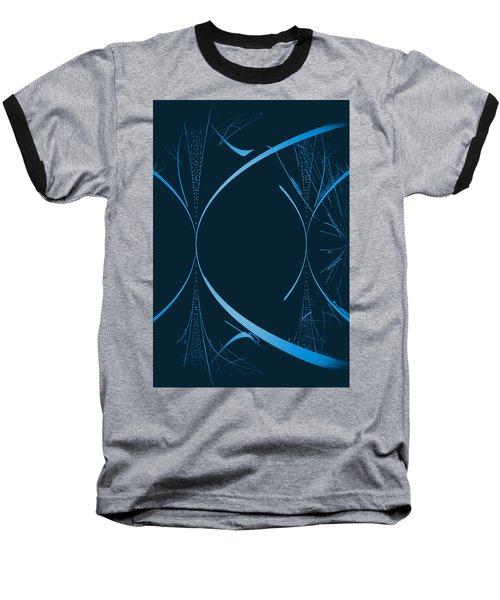 35 In Blue Baseball T-Shirt by John Krakora