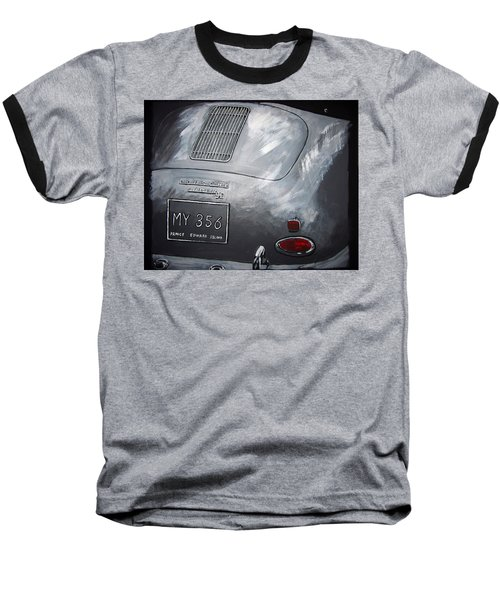 356 Porsche Rear Baseball T-Shirt