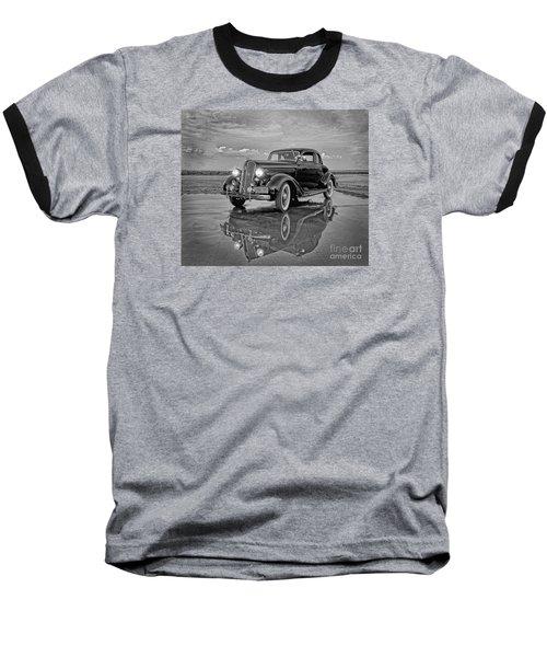 36 Plymouth Reflections Pencil Sketch Baseball T-Shirt