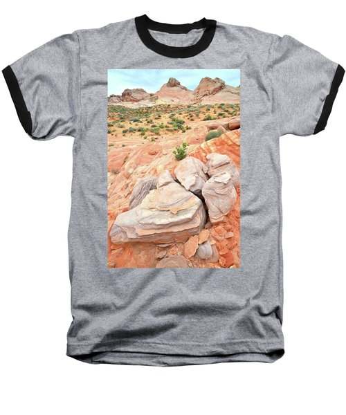 Baseball T-Shirt featuring the photograph Multicolored Sandstone In Valley Of Fire by Ray Mathis