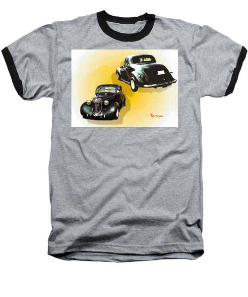 Baseball T-Shirt featuring the photograph '38 Plymouth by Sadie Reneau