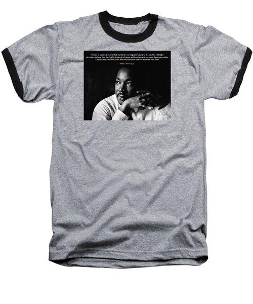 39- Martin Luther King Jr. Baseball T-Shirt by Joseph Keane
