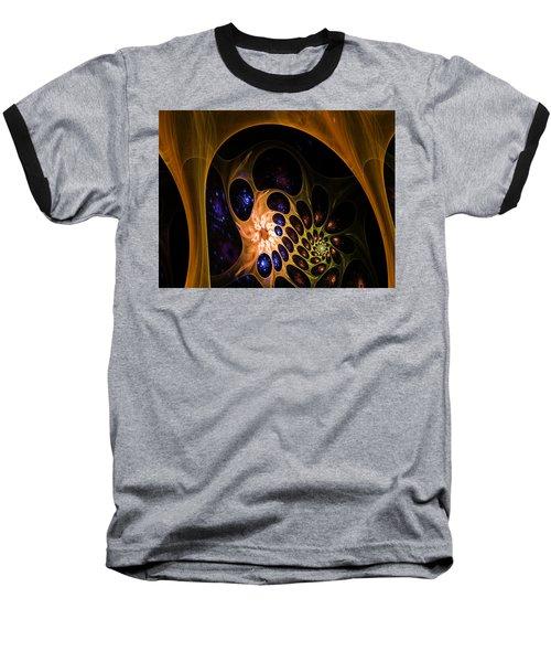 3d Chaotica Baseball T-Shirt by Ernst Dittmar