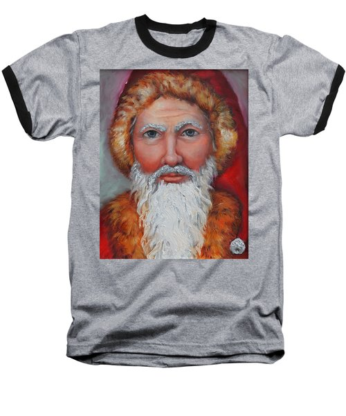 3d Santa Baseball T-Shirt