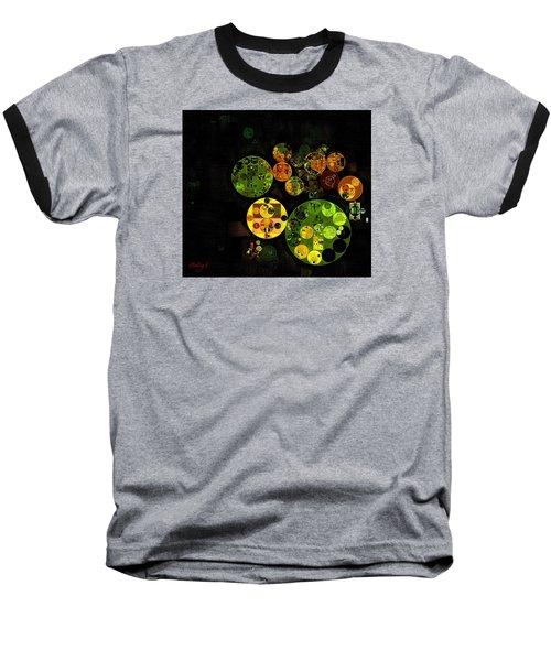 Baseball T-Shirt featuring the digital art Abstract Painting - Black by Vitaliy Gladkiy