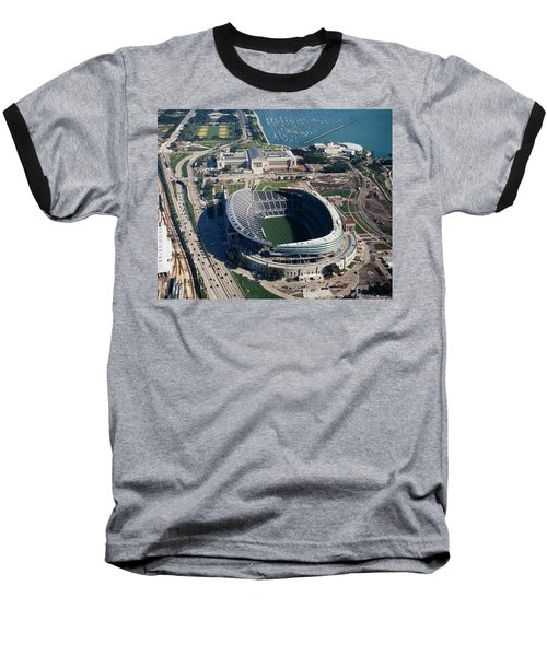 Aerial View Of A Stadium, Soldier Baseball T-Shirt by Panoramic Images