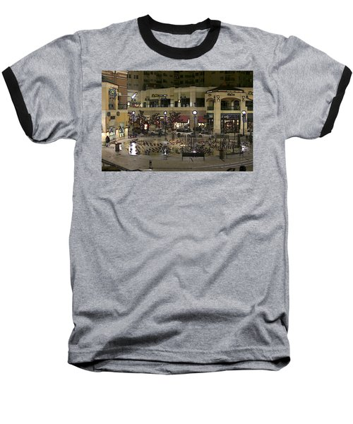 Baseball T-Shirt featuring the digital art After Closing by Gary Baird