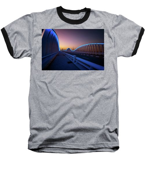 Amazing Night Dubai Vip Bridge With Beautiful Sunset. Private Ro Baseball T-Shirt