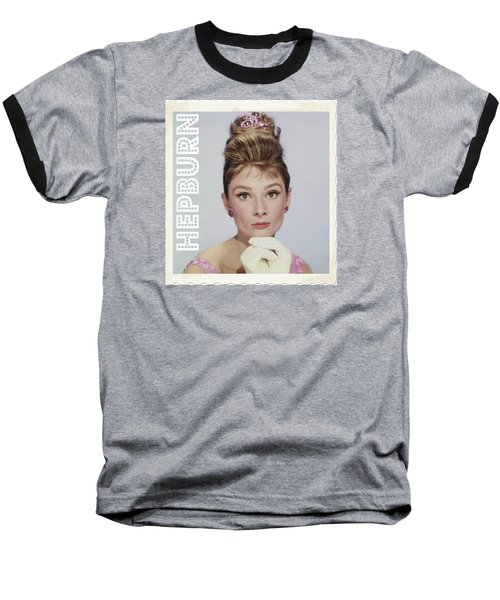 Audrey Hepburn Baseball T-Shirt by John Springfield