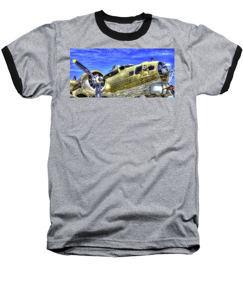 B-17 Baseball T-Shirt by Joe  Palermo