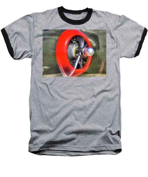 B-25 Baseball T-Shirt by Joe  Palermo