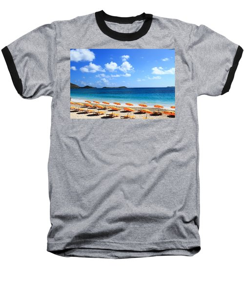Beach Umbrellas Baseball T-Shirt