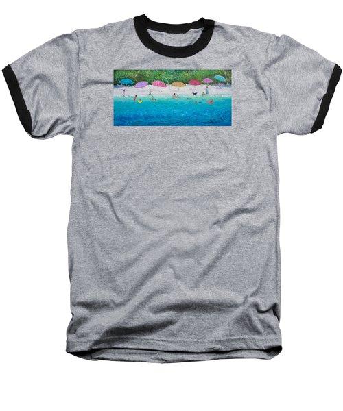 Beach Umbrellas Baseball T-Shirt