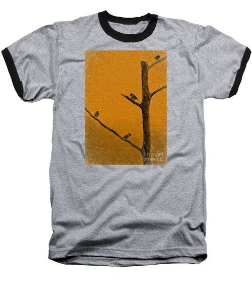 Baseball T-Shirt featuring the photograph 4 Birds by Mim White