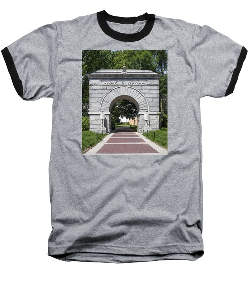 Camp Randall Memorial Arch - Madison Baseball T-Shirt by Steven Ralser