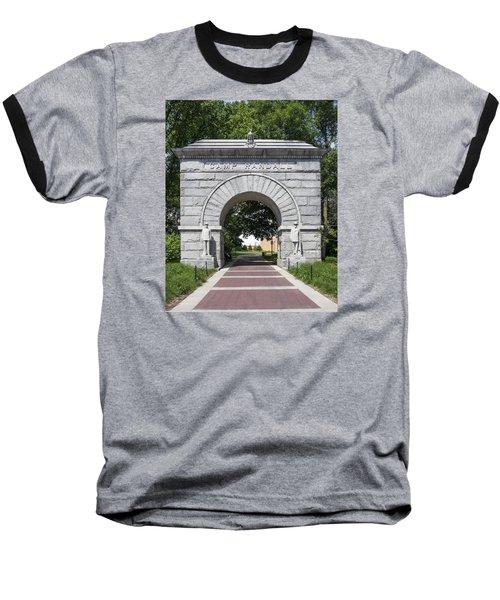 Camp Randall Memorial Arch - Madison Baseball T-Shirt