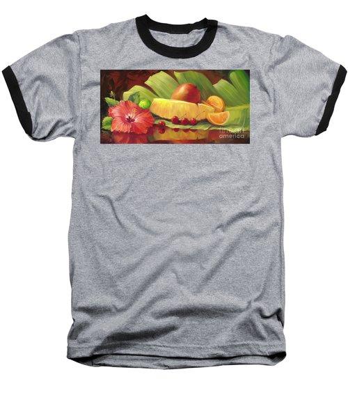 4 Cherries Baseball T-Shirt by Laurie Hein