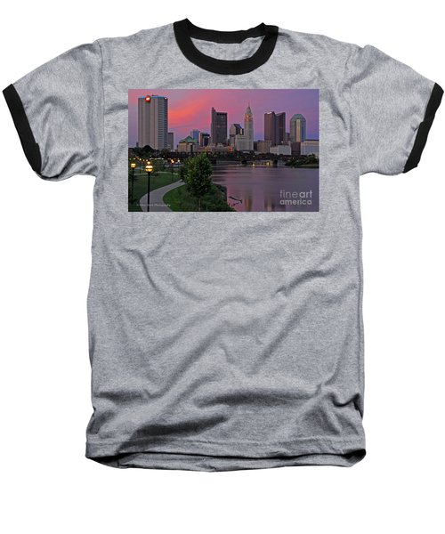 D2l37 Columbus Ohio Skyline Photo Baseball T-Shirt