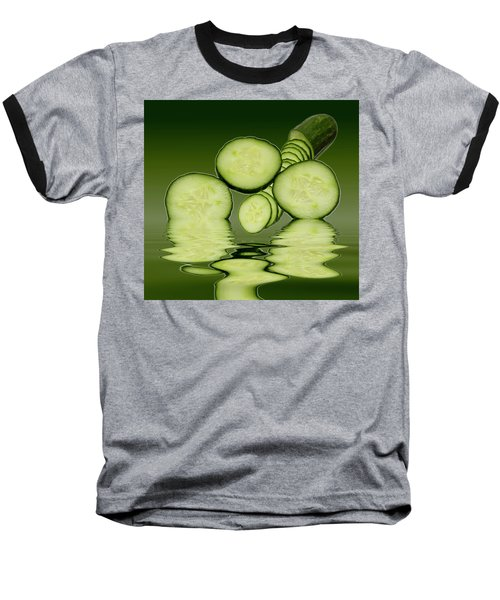 Cool As A Cucumber Slices Baseball T-Shirt by David French