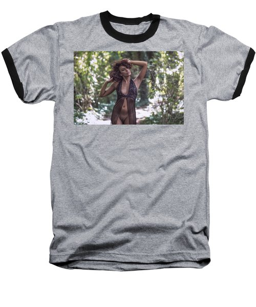 Baseball T-Shirt featuring the photograph Dany by Traven Milovich