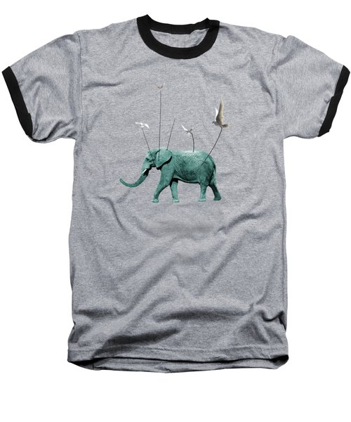 Elephant Baseball T-Shirt by Mark Ashkenazi
