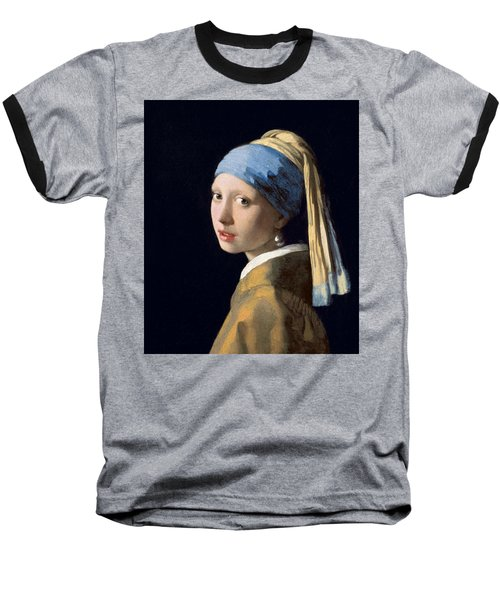 Girl With A Pearl Earring Baseball T-Shirt