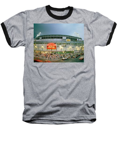 High Angle View Of Tourists Baseball T-Shirt