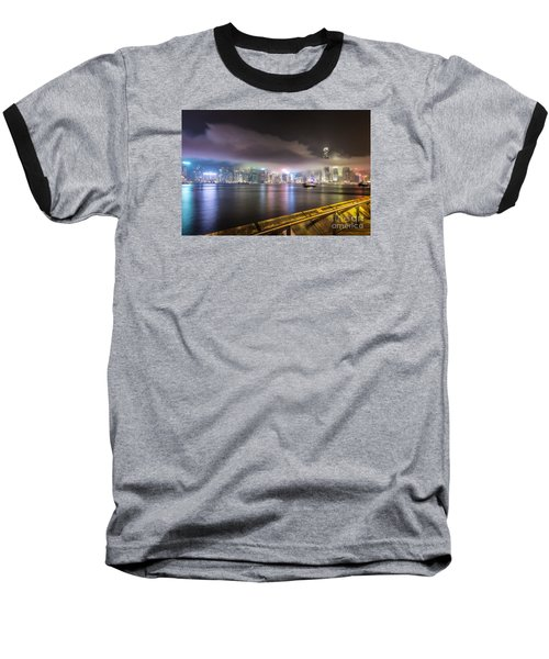 Hong Kong Stunning Skyline Baseball T-Shirt