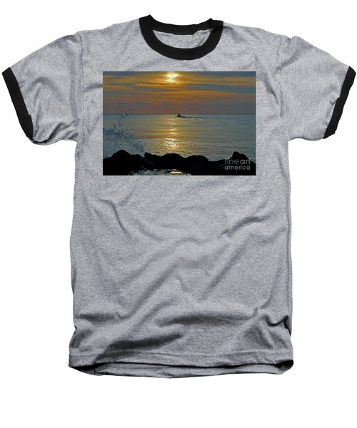 Baseball T-Shirt featuring the photograph 4- Into The Day by Joseph Keane