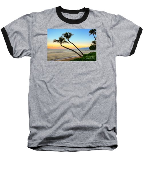Baseball T-Shirt featuring the photograph Island Sunrise by Kelly Wade