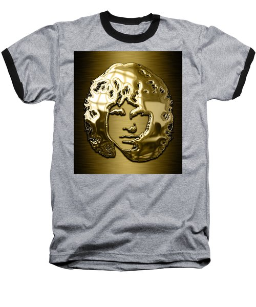 Jim Morrison The Doors Collection Baseball T-Shirt by Marvin Blaine