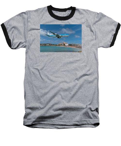 K L M Landing At St. Maarten Baseball T-Shirt
