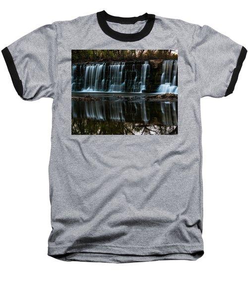 Kansas Waterfall Baseball T-Shirt by Jay Stockhaus