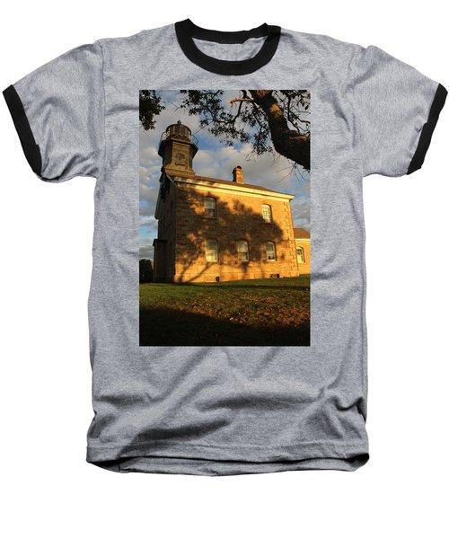 Lighthouse Old Field Point New York Baseball T-Shirt