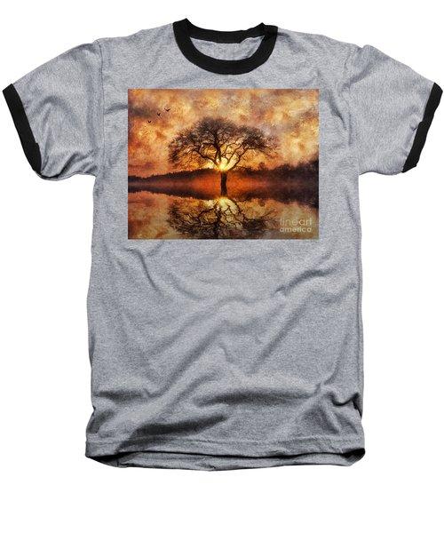 Lone Tree Baseball T-Shirt by Ian Mitchell