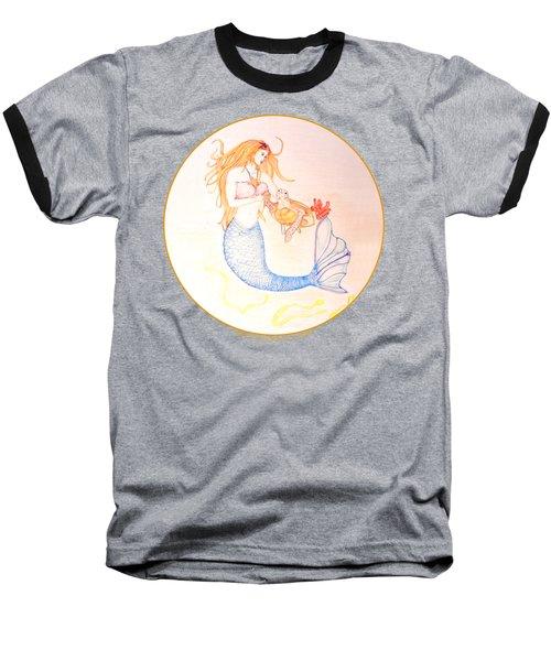 Mermaid Baseball T-Shirt by M Gilroy