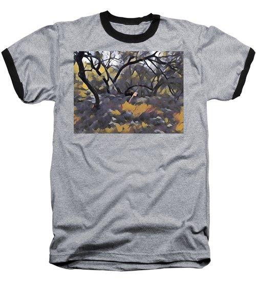 Morning Walk Trees Baseball T-Shirt