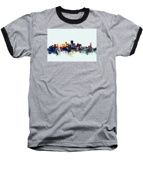 New Orleans Louisiana Skyline Baseball T-Shirt