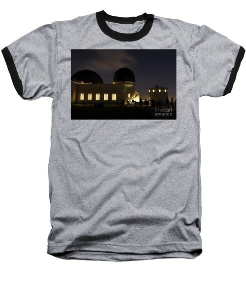 Night At Griffeth Observatory Baseball T-Shirt