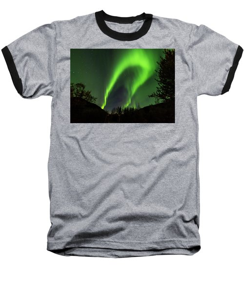 Northern Lights, Aurora Borealis At Kantishna Lodge In Denali National Park Baseball T-Shirt