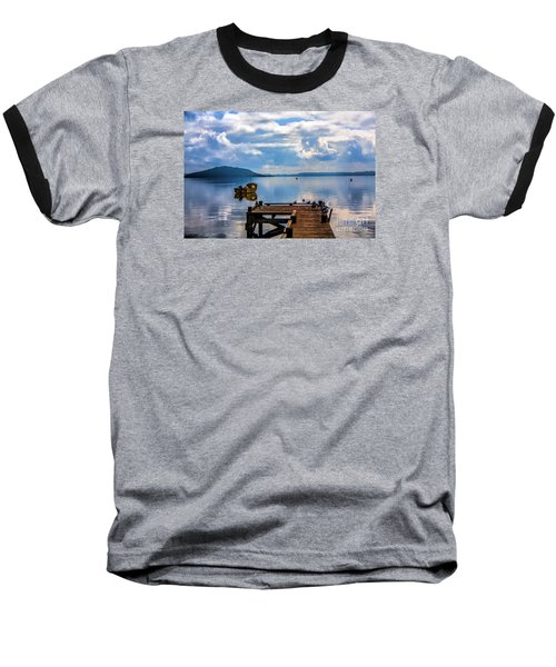 Baseball T-Shirt featuring the photograph Quiet Lake by Rick Bragan