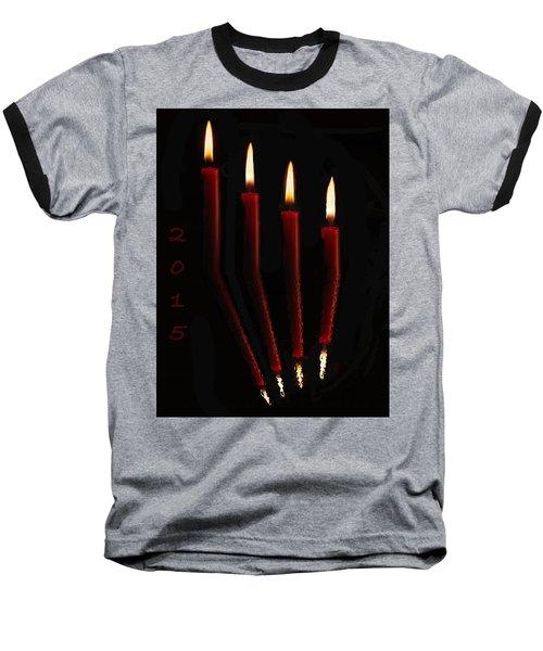 4 Reflected Candles Baseball T-Shirt