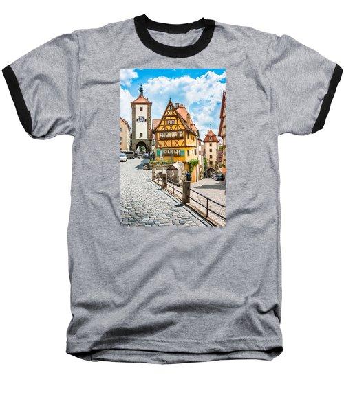 Rothenburg Ob Der Tauber Baseball T-Shirt by JR Photography