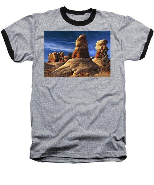 Sandstone Hoodoos In Utah Desert Baseball T-Shirt