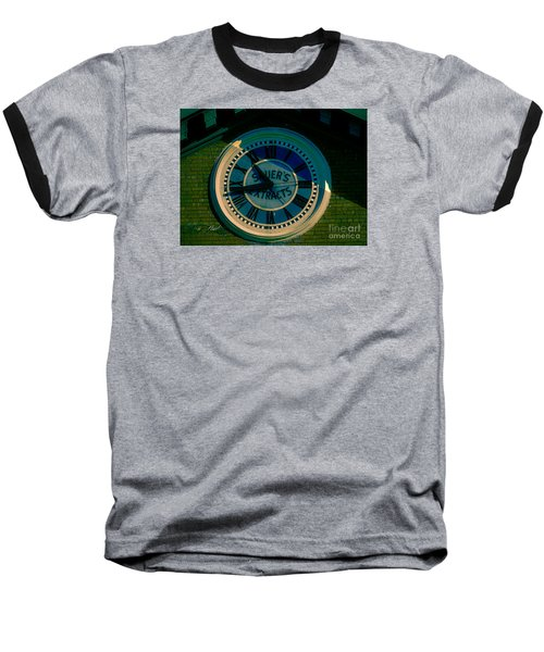 Baseball T-Shirt featuring the photograph Sauer Clock by Melissa Messick