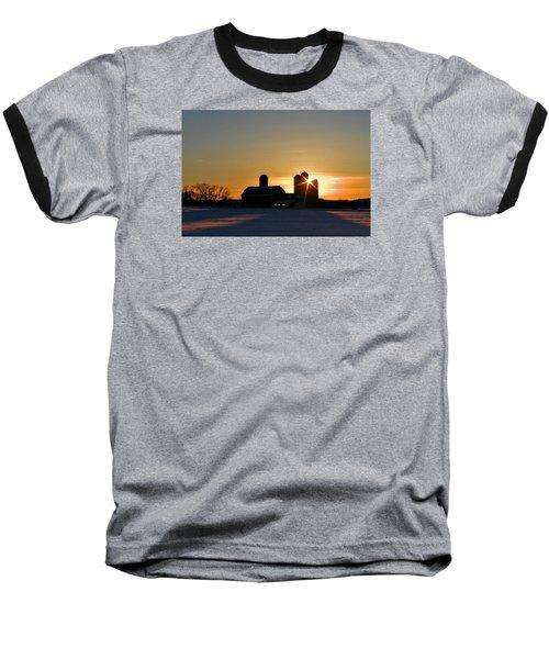 Baseball T-Shirt featuring the photograph 4 Silos by Judy  Johnson