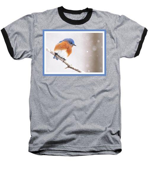 Snowy Bluebird Baseball T-Shirt