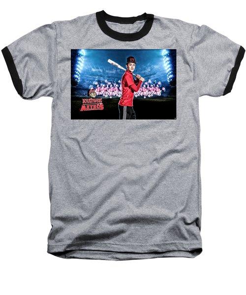 Baseball T-Shirt featuring the digital art Southwest Aztecs Baseball Organization by Nicholas Grunas